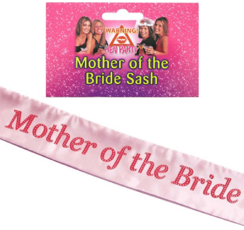 SASH MOTHER OF THE BRIDE PINK